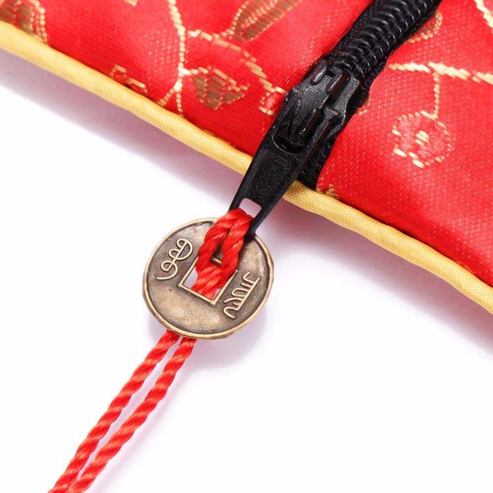 1 Pcs Seide Brokat Quaste Stoff Floral Schmuck Tasche Verpackung Trendy Exquisite Quartet Handtaschen Schmuck Tipps Tasche Hohe Qualität