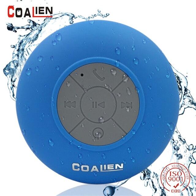 COALIEN Waterproof Bluetooth Speaker Outdoor Mini Wireless Portable  Handsfree Microphone Speaker Bathroom Subwoofer Loudspeaker