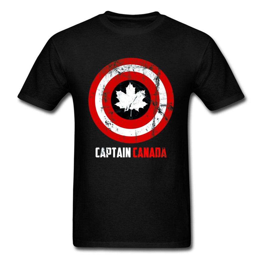Captain Canada Retro T Shirt Captain America Marvel Avengers 4 Endgame Craft Maple Men Tshirts Heroes Justice League T Shirt