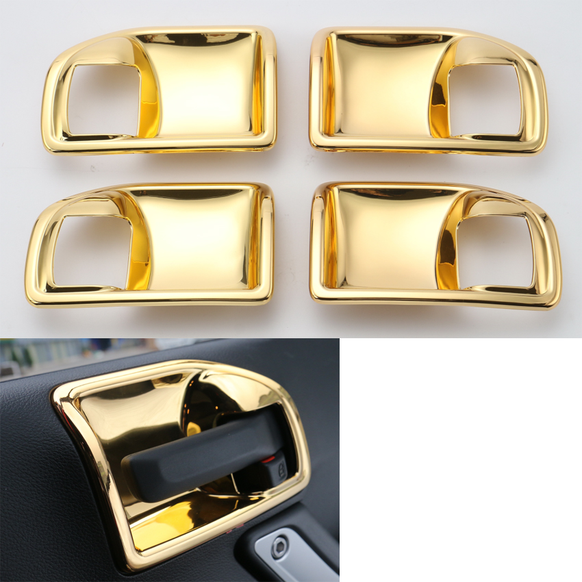 yaquicka 4pcs set gold car interior door handles bowl decoration