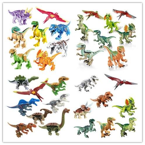 160pcs Park Dinosauro mattoni da Costruzione Blocchi di Pterosauria Triceratops Indomirus T Rex Mattoni-in Blocchi da Giocattoli e hobby su  Gruppo 1