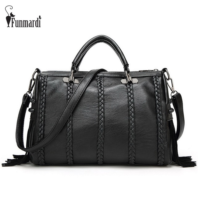 Новая Мода Тканые полосы и кисточкой дизайн PU кожа женщин сумки, Модные Заклепки женщины сумки Роскошные женщины сумки на ремне WLHB1507