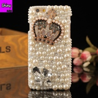 2018 Diamond Bling Rhinestone Pearl Cover Fashion Phone Case For IPhone X 5 5s 6 6S