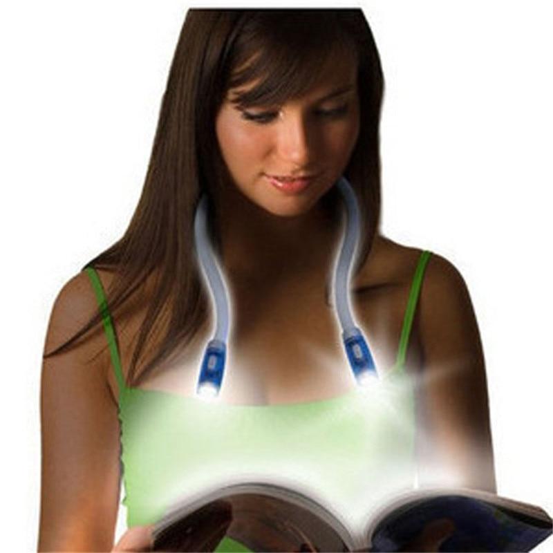 Led Flexible Hands free Neck Light Hug light Book Reading Lamp Hug Light Novelty Led Night Light Flashlight