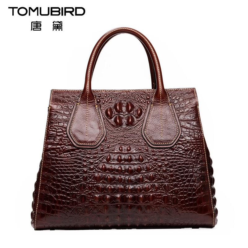 TOMUBIRD new superior cowhide leather Classic Designer Embossed Crocodile Leather Tote Top Handle Handbags genuine leather bag tomubird 2017 new superior cowhide leather painting genuine leather embossed women leather handbags tote leather shoulder bag