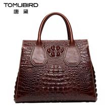 TOMUBIRD new superior cowhide leather Classic Designer Embossed Crocodile Leather Tote Top Handle Handbags genuine leather bag
