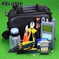 KELUSHI 20 pçs/set Maleta de Ferramentas De Fibra Óptica com Fibra Cleaver FTTH-70 ~ + 10dbm Medidor de Potência Óptica Visuais Lcator de falhas 10 km