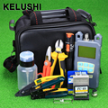 KELUSHI 20pcs/set FTTH Fiber Optic Tool Bag with Fiber Cleaver -70~+10dbm Optical Power Meter Visual Fault Lcator 10km