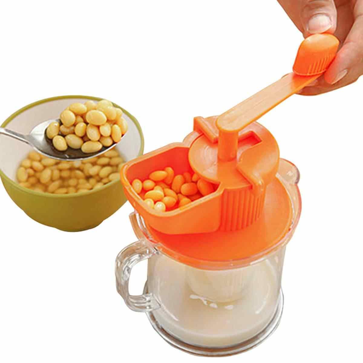 400ml mini manual máquina de suco de soja fabricante de leite de soja frutas legumes mão espremedor de 14.5x9.5x9.5 cm plástico de grau alimentício
