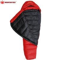 Горный перевал red4 спальный мешок идеально подходит для кемпинга Пешие прогулки Мумия водонепроницаемый спальный мешок 1200 г гусиный пух нап