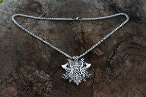 Image 5 - 10 Uds. Rossian Colgante vikingo de Elena Odín, colgante nórdico para hombres, colgante de Cruz vikinga, colgante de cuervo