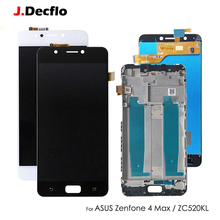 купить Original Replacement For Asus Zenfone 4 Max ZC520KL LCD Display Touch Screen Digitizer Assembly With Frame Black White 5.2'' по цене 1174.97 рублей