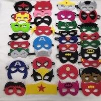 28 35pcs/lot Hip hop Mask Halloween Superman Batman Spiderman Hulk Thor IronMan Princess Eye Mask Animal Cartoon Masks