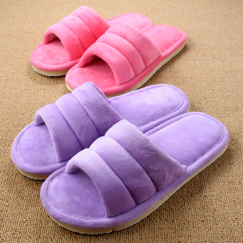 New 10 Colors Pantofole Donna Pink Slippers Chinelo Masculino Mujer Shoes Men House Pink Slippers Women Plush Antiskid Zapatos цена