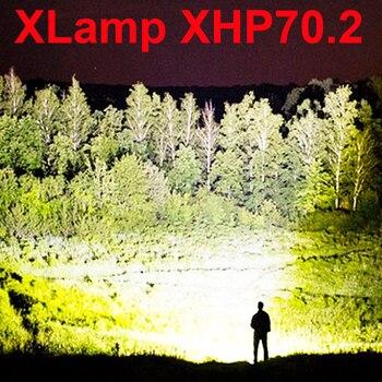 Ha condotto la torcia elettrica 90000 lumen xhp70.2 più potente torcia elettrica 26650 torcia usb xhp70 xhp50 lanterna 18650 di caccia luce della lampada a mano