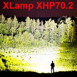 Lampe de poche LED 90000 lumens xhp70.2 lampe de poche la plus puissante 26650 torche usb xhp70 xhp50 lanterne 18650 lampe de chasse lumière à la main