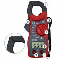 Multimeter Voltmeter Digital Clamp Meter Current Clamp AC DC Ammeter Multi-function Diode Fire Wire Tester MT-87 Clamp Meter