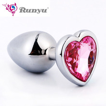 S/M/L Intimate Metal Anal Plug With Crystal Jewelry Smooth Butt No Vibrator Beads Tube Sex Toys for Men/Women
