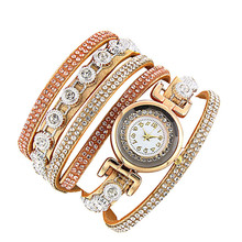 Clock  Women Fashion Casual Analog Quartz Women Rhinestone Watch Bracelet Watch Gift  Beautiful High Qulity Hot Selling M1