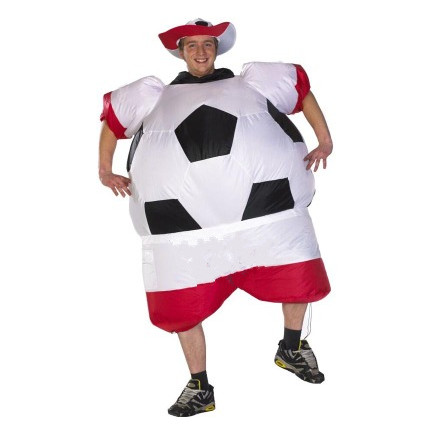 Free shippin New Soccer Inflatable Costume Football for Halloween Party Mascot Fancy Blow Up Dress Carnival Inflatable Ball Suit
