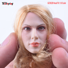 1/6 Scale Golden Widow Scarlett Johansson Head Sculpt Short Blonde Hair GC002B Female Model Fit 12 Inch Phicen Action Figure все цены