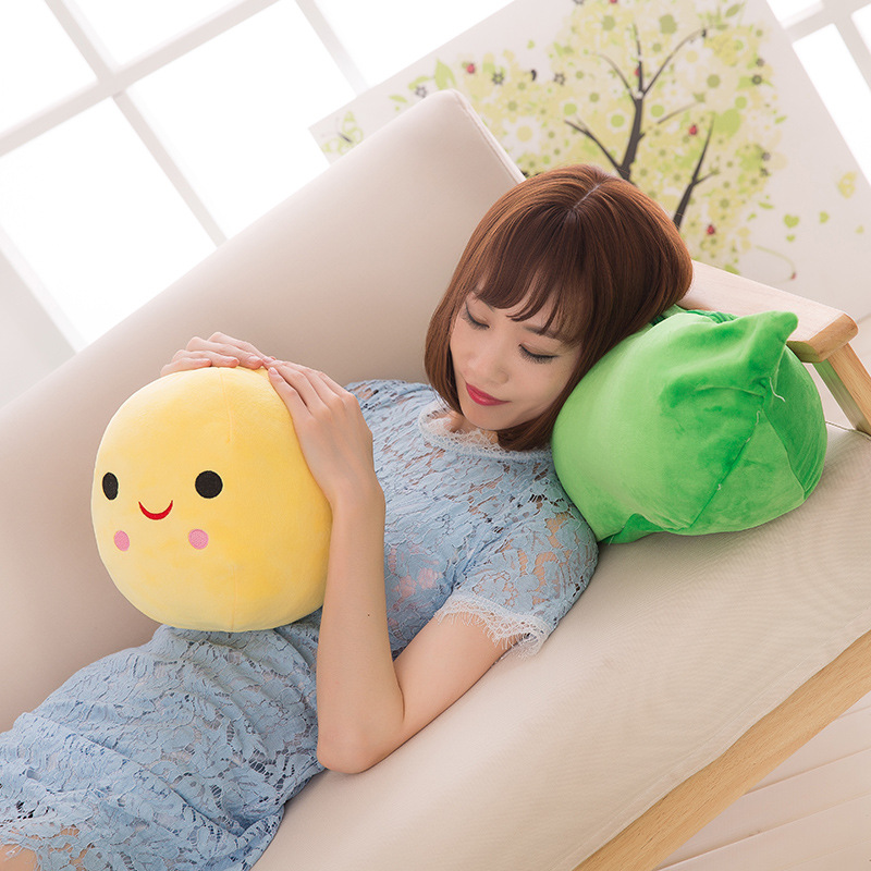 Kids Baby Plush Toy Cute Pea Stuffed Plant Doll Girlfriend Kawaii For Children Gift High Quality Pea-shaped Pillow Toy nooer cute soft bull terrier dog plush toy dog stuffed pillow doll children kids toy birthday girlfriend gift baby toy