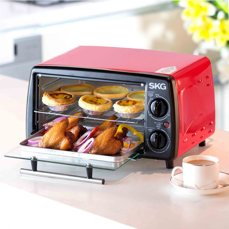 12L Multifunctional Home Kitchen Single Convection Oven Independent Heating Control Cake Bread Baking Machine Pork Mini Roaster