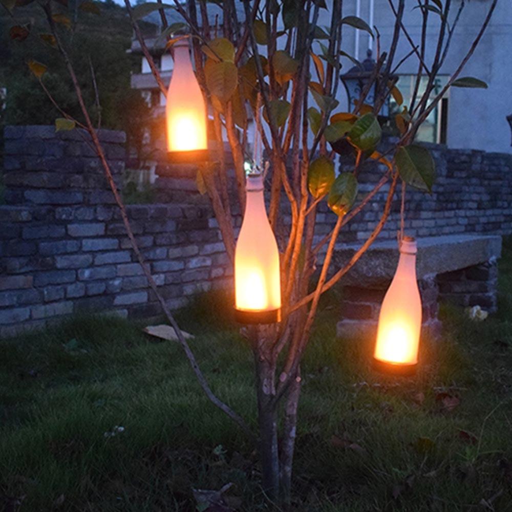 Terrasse Landschaft Solar Weinflasche Hängen Decor Leuchten Lichter Flamme Partei Lampe Led Weihnachten N0nv8mw