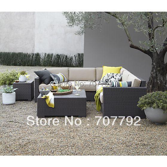 ventura modulaire exterieure rotin meubles de patio canape ensemble