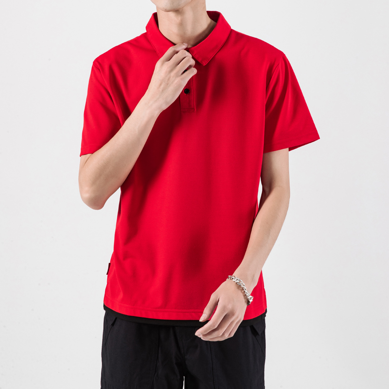 Fake Two Pieces Male   Polo   Shirt Large Sizes Solid Color Men   Polo   Shirt Summer   Polo   Shirts Man Short Sleeve