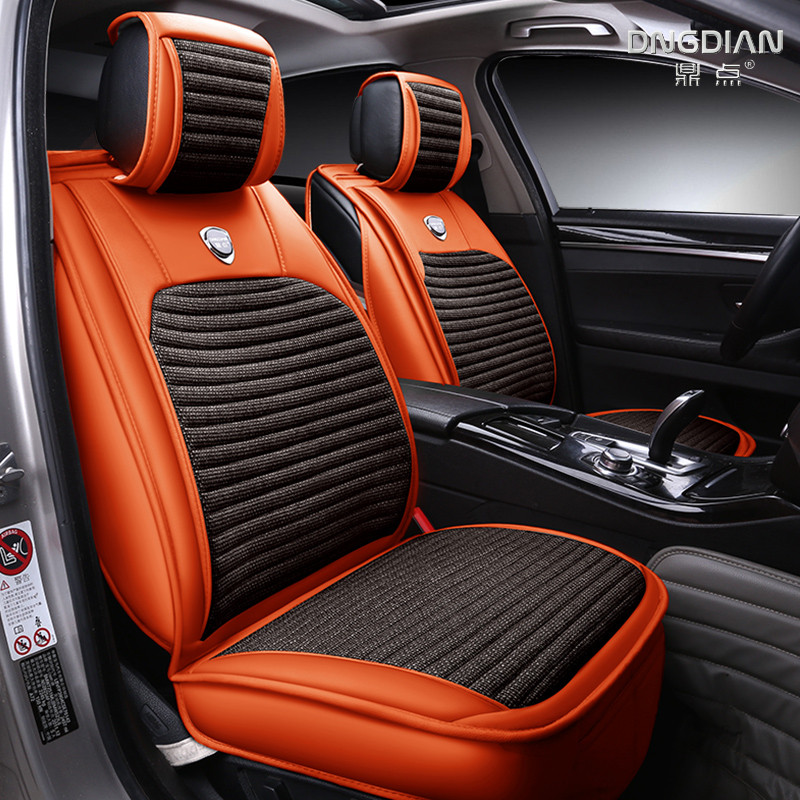 Automotive Cushion Set Car Seat Covers Linen Black Mats For ROVER 75 MG TF 3