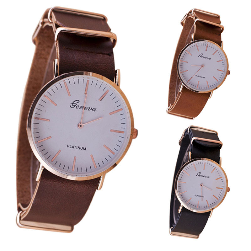 popular mens watches simple elegant buy cheap mens watches simple new summer style ultra thin leather belt geneva classic simple scale male clock elegant men
