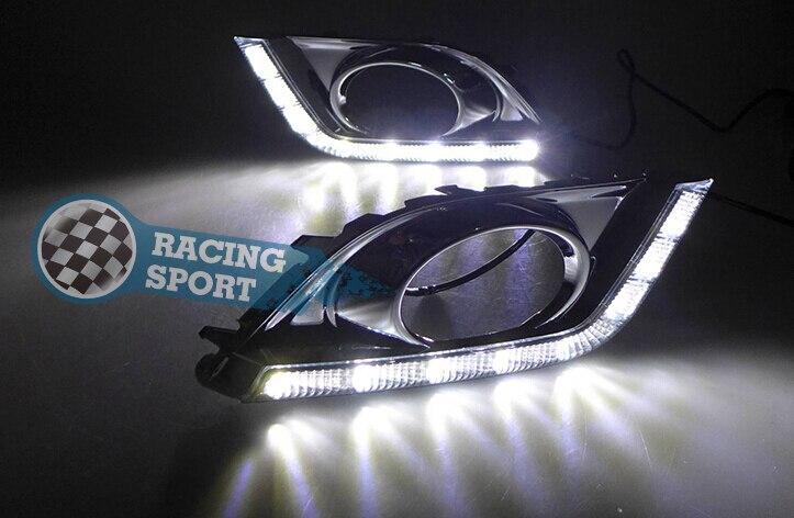 2PCS White12V LED Daytime Running Light DRL For VW Jetta 2013-2014 Waterproof Auto Fog Light. автоинструменты new design autocom cdp 2014 2 3in1 led ds150