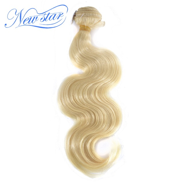 New Star Hair Brazilian Blonde Body wave 100% Human Hair Thick Bundles Weaving #613 Remy Hair Free Shipping