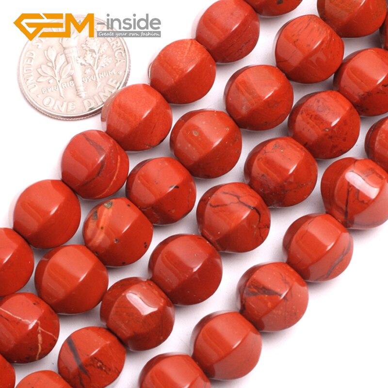 GEM-inside10mm Lantern Shape Red Jaspe r Stone Beads Natural Stone Beads Loose Bead For Bracelet Making Strand 15 inches DIY !