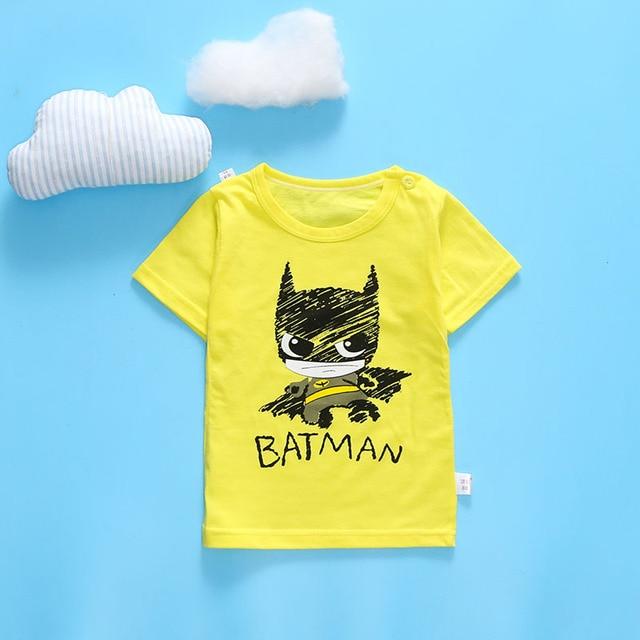 multi color multi style Cotton  cartoon kids  tshirt t shirt clothing  baby children clothes summer short tee shirt T shirt