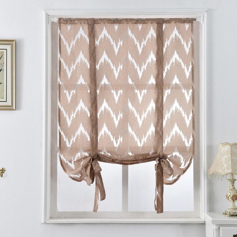 Kitchen Short Blinds Treatments Home Curtains Roman Cafe
