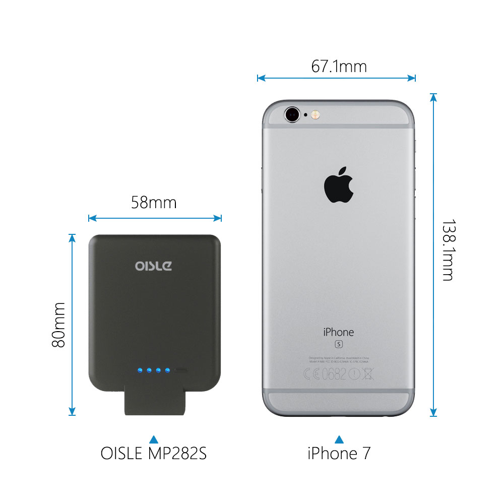Image 2 - OISLE 2800mAh Battery Charger Case For iPhone 8/7/6(s) 5 5s SE, Ultra Slim thin Power Bank mini Backup Portable Charging Case-in Power Bank from Cellphones & Telecommunications