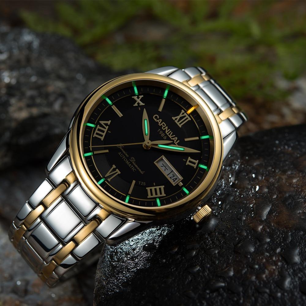 T25 Tritium Luminous Carnival Mechanical Watch Men Watches 2018 Luxury Brand Double Calendar Automatic Wristwatch Relojes Hombre