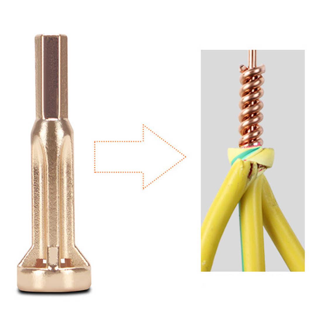 Электрический спиральный провод инструмент 2 ~ 5 отверстий электрик Универсальный автоматический скрученный провод зачистки двойной разъем машины