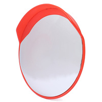 Safurance 80cm Traffic Driveway Wide Angle Security Safety Curved Convex Road Mirror Visor Traffic Signal Roadway