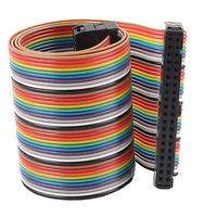 2 54mm Pitch 40 Pin 40 Way F F Connector IDC Flat Rainbow Ribbon Cable 1