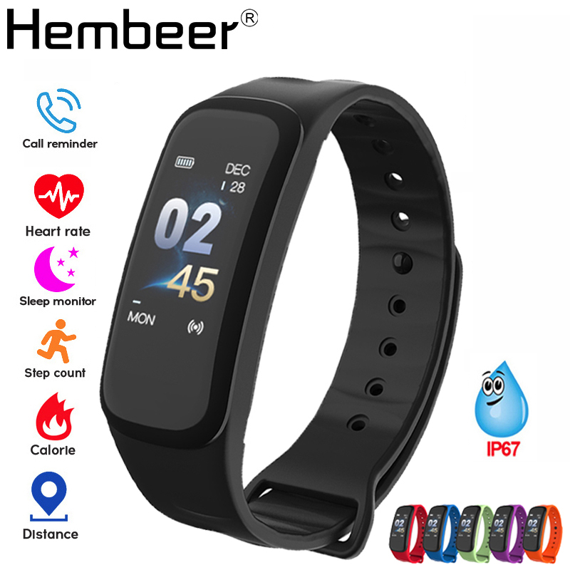 Health Bracelet Blood Pressure Measurement Smart Band Fitness Tracker Digital Watch for iPhone xiaomi pk fitbits honor band 4-in Smart Wristbands from Consumer Electronics