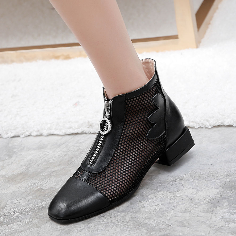 LAPOLAKA Hot Sale Genuine Cow Leather Fashion Summer Boots Woman Shoes Leisure Square Toe Breathable Air Mesh Shoes WomanLAPOLAKA Hot Sale Genuine Cow Leather Fashion Summer Boots Woman Shoes Leisure Square Toe Breathable Air Mesh Shoes Woman