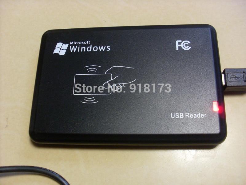 125KHz μαύρο αισθητήρα ευκρίνειας USB Smart αναγνώστη καρτών rfid id EM4100, EM4200, EM4305, T5577 ή συμβατές κάρτες / ετικέτες χωρίς οδηγό