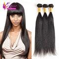 Brazilian Straight Hair 3 Bundles Cheap Brizilian Virgin Hair 50g/pcs Meches Bresilienne Lots Ross Pretty Hair 100% Human hair
