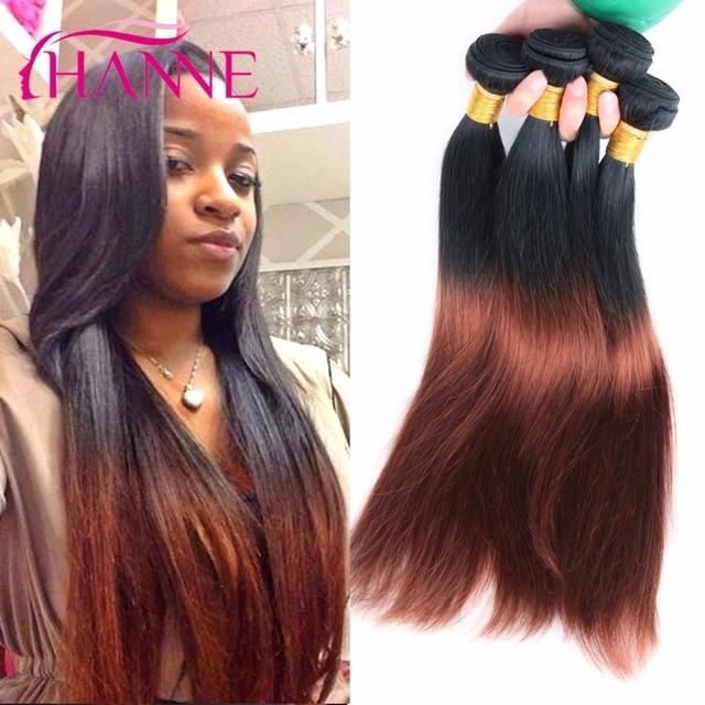 Ombre straight hair 1b 33 brown brazilian virgin hair 4 bundles ombre straight hair 1b 33 brown brazilian virgin hair 4 bundles brazilian straight hair weave two pmusecretfo Images