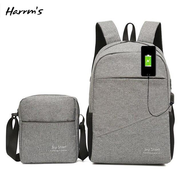 2IN1 Unisex Fashion Travel Bag TOP 15 Inch Laptop Backpack USB Charging Anti Theft Backpack Men Backpack Waterproof School Bag