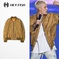 PROVERGOD Wow Moda Hombres de Oro Abrigos Ejército MA1 Bomber Pilot Bieber Chaquetas Para Hombre Hip Hop Streetwear de Gran Tamaño M-XL