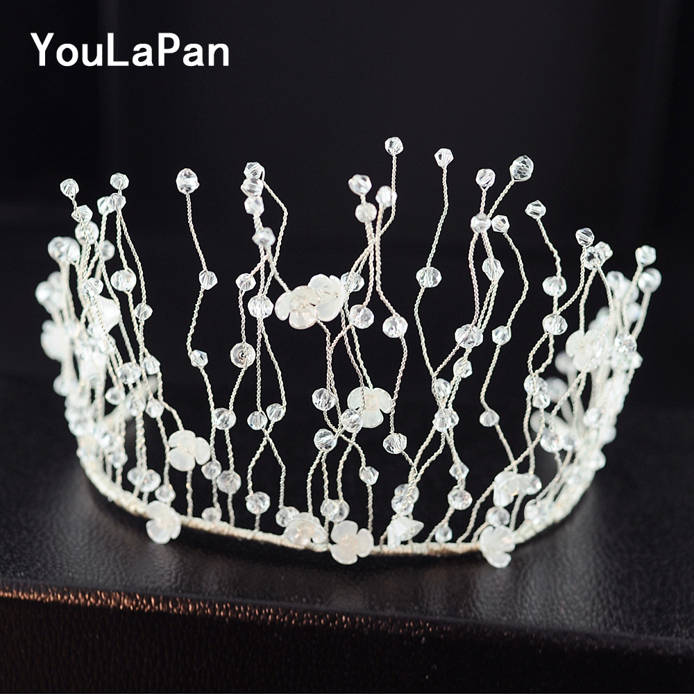YouLaPan HP204 Bridal Hair Accessories Shell flower crown for bride Wedding Tiara Crystal Wedding Hair Jewelry Wedding Crown